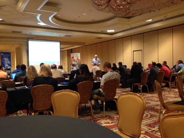 sales conference at the Monte Carlo resort in Las Vegas